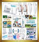 Wii Console System Mario Kart 4 Players 8 Controls HD Games Bundle