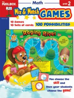 Mix and Match Games Math Grade 2 by The Mailbox Books Staff 2008, Book