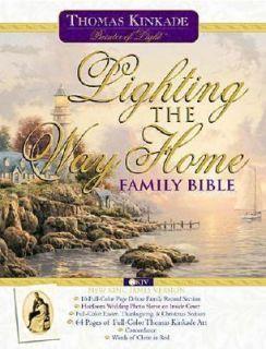 Lighting the Way Home Family Bible Wedding Edition by Thomas Kinkade