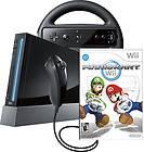 BRAND NEW★ NINTENDO Wii Console BLACK w/ Mario Kart Bundle and