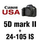 Canon EOS 5D Mark II 21.1 MP Digital SLR Camera   Black (Kit w/ EF L