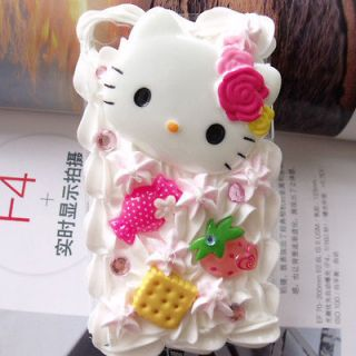 Cute 3D Hello kitty ice cream Cake Cover Case For iPod Touch 5 5G 5th