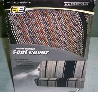 Auto Expressions Universal Saddle Blanket Bench Seat Cover Front or