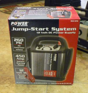 Power On Board Jump Start System   12 Volt DC Power Supply