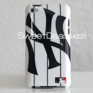 Apple iPod Touch 4th Gen New York Yankees Blue Pinstripe Case Cover 8
