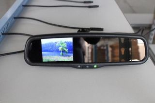 Backup camera display rear view mirror 3.5 monitor,fit Ford,Nissan,GM