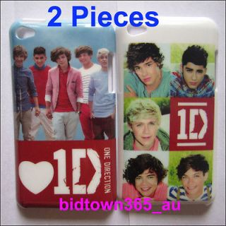 2pcs 1D One Direction Hard Platic Back Case Cover Skin For iPod Touch