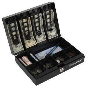 Safe Safety Cash Lock Money Key Jewelry Watch Drawer Box with Tray