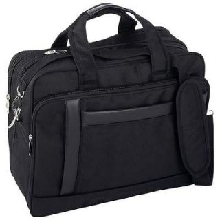 16 Nylon Expandable Briefcase Computer Bag Laptop Case Carry On Tote