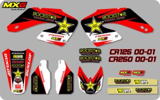 ROCKSTAR MOTOCROSS MX GRAPHICS STICKERS DECAL KIT HONDA CR CR125 CR250