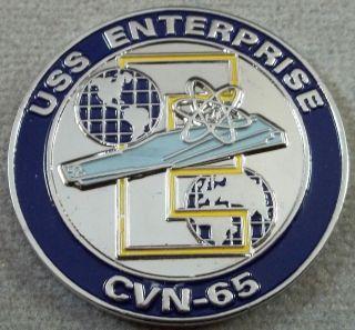US Navy USS Enterprise CVN   65 Challenge Coin /  Dont Tread On Me