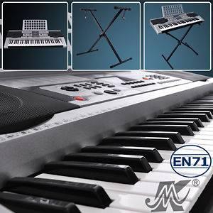 EN71 LCD 61 Key Electronic Keyboard Piano X Stand Digital Musical
