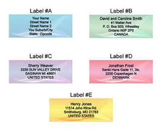 personalized address labels in Specialty Services