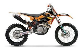 Flu Design Factory KTM FMF Team Graphic Kit White EXC/XC 200 530 2008