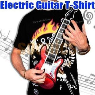 electronic rock guitar shirt in Musical Instruments & Gear