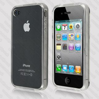 Silicone Case For Apple iPhone 4S 4 TPU GEL Cover and Screen Protector