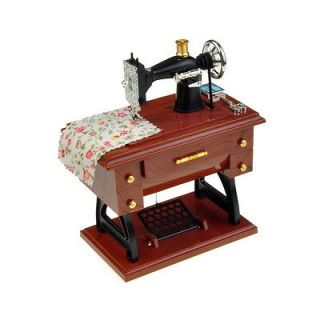 Portable Sartorius Model Sewing Machine Shape Music Box Toy Gift