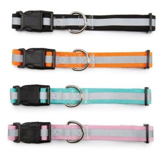 Dog Collars Reflective Nylon Guardian Gear Safety Pet Collar