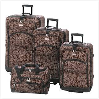 Print Luggage Set.Cheetah Pattern.Animal Frabric.Baggage.Travel Case