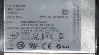 160GB Solid State Disk SSD SSDSA1M160G2HP 1.8 MLC Drive MicroSATA