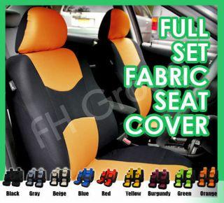 Universal Car Seat Covers Full Set Non split Bench for Sedan, Truck