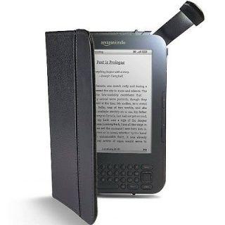 OEM  Official Lighted Leather Cover Kindle Keyboard Case BLACK