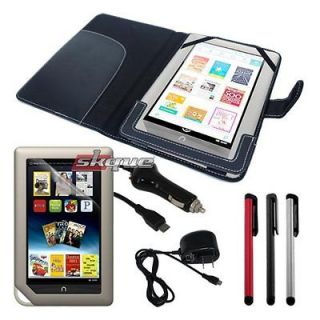 5in1 Accessory Bundle For Nook Color Tablet Leather Case+Car Wall