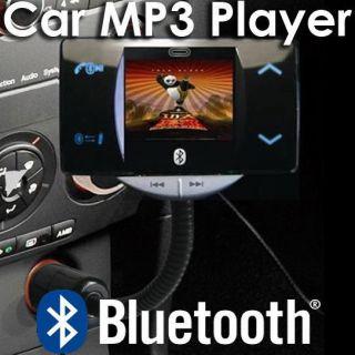 Bluetooth Car Kit Vehicle FM Transmitter  Player Steering Wheel
