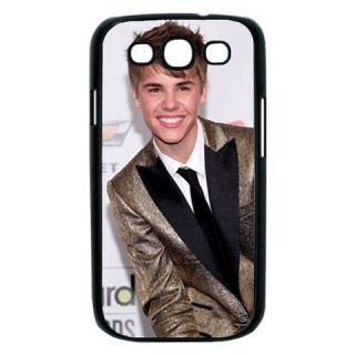 NEW Justin Bieber Samsung Galaxy S3 S III Hard Case Cover   Black