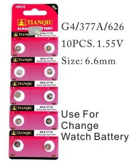 AG4 377A Alkaline Battery 1.55V Use for change Watch ,Calculator