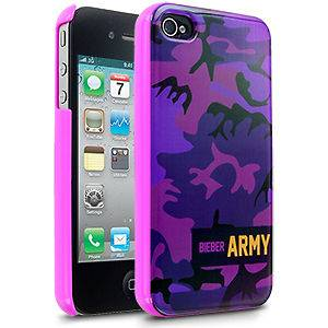 iPhone 4/4s Justin Bieber Limited Edition Bieber Army Case