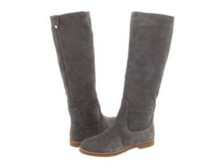 New Michael Kors Kenton Tall Knee Riding Flats Boots Shoes Suede Grey