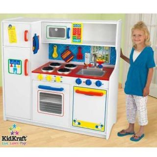 NEW GIFT COOKING KITCHEN KIDS FOOD TOY CHEF PLAY HOUSE SET WOOD/WOODEN
