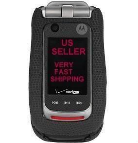 New OEM Verizon Motorola Barrage V860 Black Rubberized Case