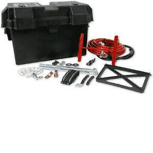 Battery Relocation Kit 2 Ga. Wire Trunk Mount Extra Stereo Back Up Box