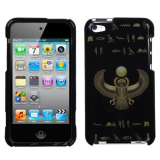 Case Cover For APPLE iPod touch (4th generation) Gold Scarab/Black