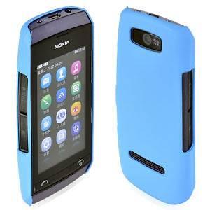 Matte Hard Case For Nokia Asha 305/306 Rubber Coating Cover Skyblue