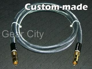 Audio Coaxial Silver Plated Cable RCA Plug Subwoofer Hi Fi CDC30