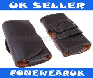 Universal XL LARGE Leather Belt pouch Case Cover For Mobile Phones