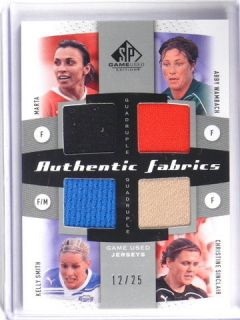 2011 Sp game Used Abby Wambach Marta Smith & Sinclair jersey #D12/25