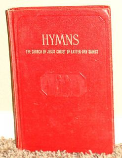 RED Hymns LDS Mormon Song Book Collectors Item Lost Hymn 70 Out of
