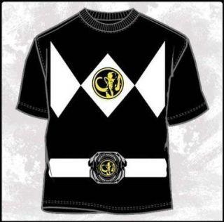 Power Rangers Costume Black Ranger T Shirt