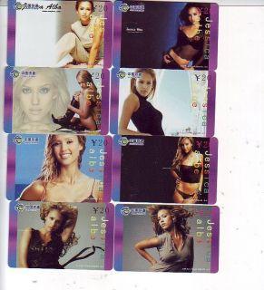 M03136 China phone cards Jessica Alba 8pcs