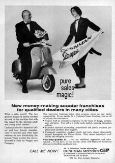 1961 Vespa Scooter Pure Sales Magic! Original Ad
