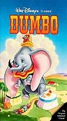 WALT DISNEYS CLASSIC DUMBO VHS HOME VIDEO VCR TAPE + CASE