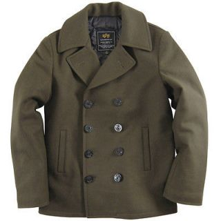 alpha pea coat in Clothing, Shoes & Accessories