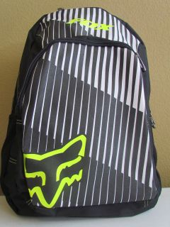 NWT FOX Racing Graphic Logo Multi Function Laptop Backpack Black