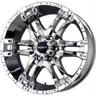 20 inch Ballistic Wizard chrome wheels rims 6x5.5 +14