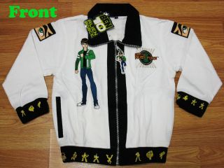 Ben 10 Alien Force Spring Jacket #712 White Size ML age 12 14
