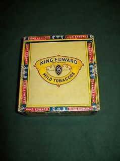 KING EDWARD CIGARILLOS BOX WITH CANADIAN STAMPS